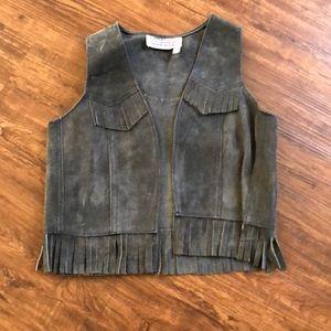 Vintage kids suede vest - perfect for costume!